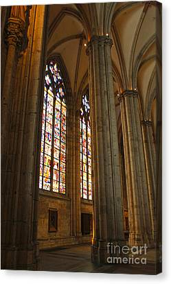 Cologne Germany - High Cathedral Of St. Peter - 02 Canvas Print by Gregory Dyer