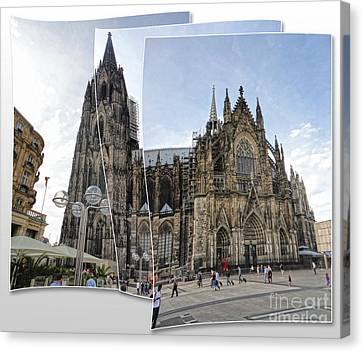 Cologne Germany - High Cathedral Of St. Peter - 03 Canvas Print by Gregory Dyer