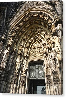 Cologne Germany - High Cathedral Of St. Peter - 05 Canvas Print by Gregory Dyer