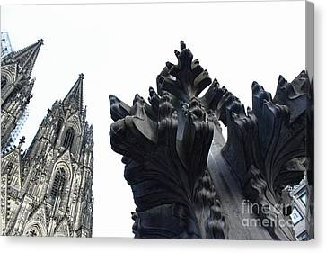 Cologne Germany - High Cathedral Of St. Peter - 09 Canvas Print by Gregory Dyer