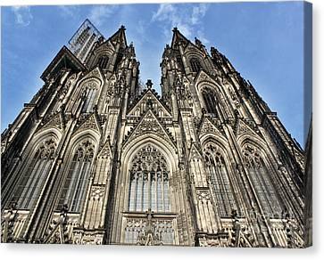 Cologne Germany - High Cathedral Of St. Peter - 16 Canvas Print by Gregory Dyer