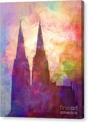 Dom Canvas Print - Cologne Lights by Lutz Baar