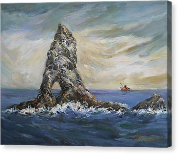 Colombretes Island Canvas Print by Stefano Popovski