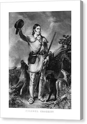 Patriots Canvas Print - Colonel Davy Crockett by War Is Hell Store
