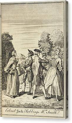 Colonel Jack Robbing Mrs Smith Canvas Print by British Library