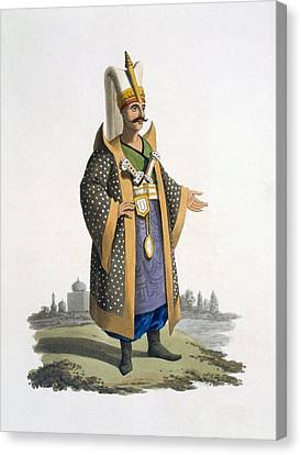 Jewels Canvas Print - Colonel Of The Janissaries With Jewels by English School