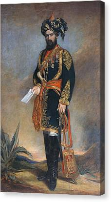 Colonel Probyn Cb Vc Honorary Adc Canvas Print by James Rannie Swinton