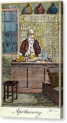 Colonial Apothecary, 18th C Canvas Print by Granger