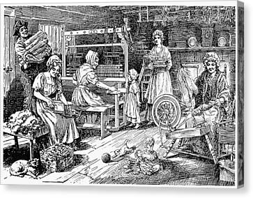 Colonial Cloth Makers Canvas Print by Granger