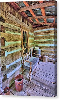 Colonial Front Porch Basics Canvas Print by Gordon Elwell