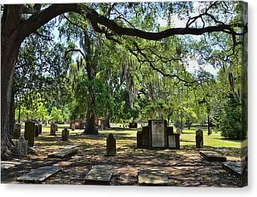 Colonial Park Cemetery Canvas Print
