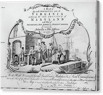 Colonial Virginia, 1775 Canvas Print by Granger