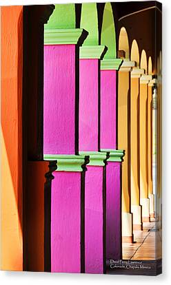 Colorful Colonnade - Lake Chapala - Mexico - Travel Photography By David Perry Lawrence Canvas Print by David Perry Lawrence