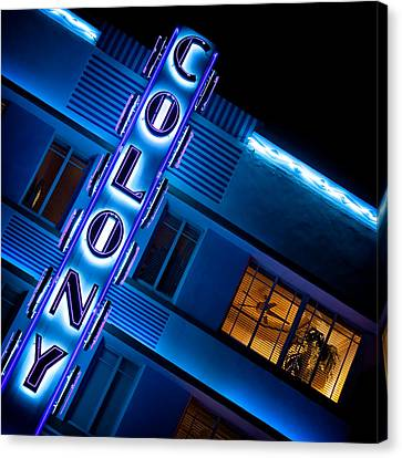 Colony Hotel 1 Canvas Print by Dave Bowman