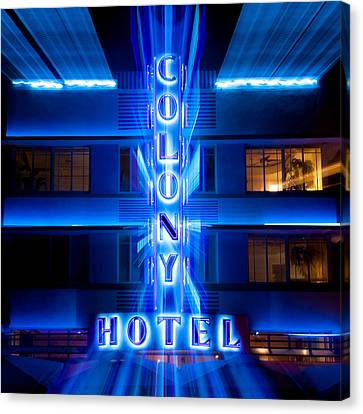 Miami Canvas Print - Colony Hotel 2 by Dave Bowman