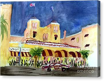 Colony Hotel In Delray Beach Canvas Print by Donna Walsh