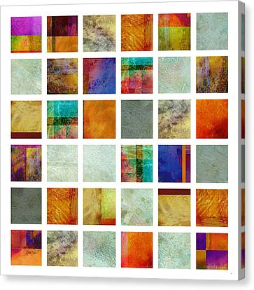 Color Block Collage Abstract Art Canvas Print by Ann Powell
