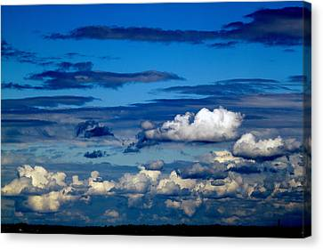 Color Burned Clouds Canvas Print