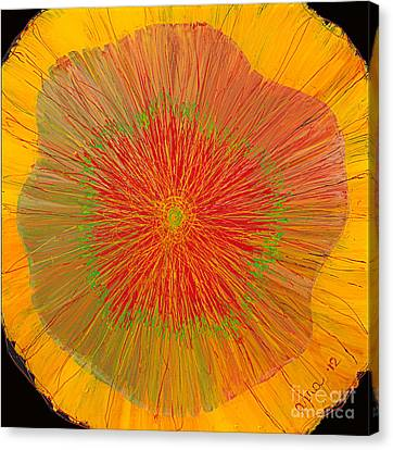Canvas Print featuring the painting Color Burst 4 by Anna Skaradzinska