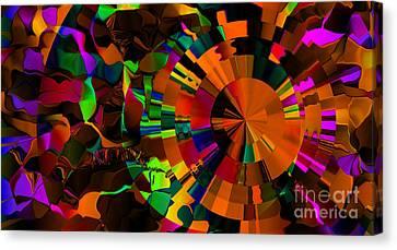 Color Burst - Orange Canvas Print