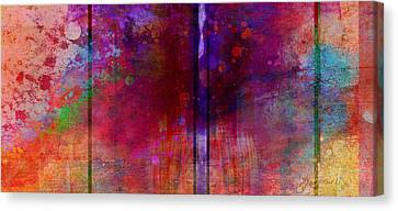 Color Burst Two Abstract Art  Canvas Print by Ann Powell