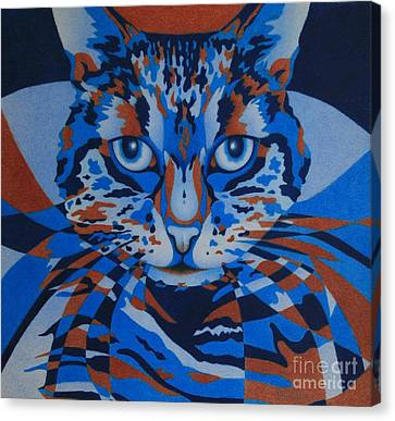 Color Cat IIi Canvas Print by Pamela Clements