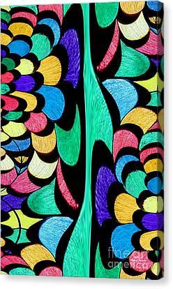 Canvas Print featuring the digital art Color Dance by Rafael Salazar