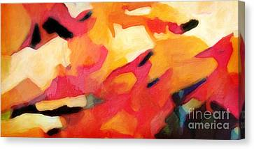 Abstract Forms Canvas Print - Color Dynamics by Lutz Baar