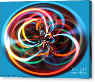 Mary King Canvas Print - Color Elipse by Mary  King