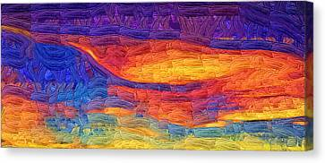 Canvas Print featuring the digital art Color Explosion by Kirt Tisdale