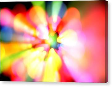 Color Explosion Canvas Print by Les Cunliffe