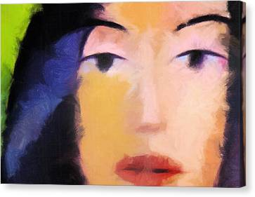 Color Face Canvas Print by Lutz Baar