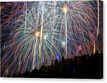 Color Fire July 4th Canvas Print by Yoshiki Nakamura