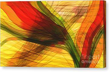 Color Flow Canvas Print by Hilda Lechuga