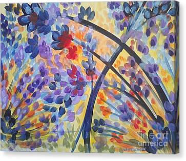 Color Flurry Canvas Print by Holly Carmichael