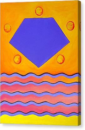 Color Geometry - Pentagon Canvas Print