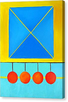 Color Geometry - Square Canvas Print by Carolyn Goodridge