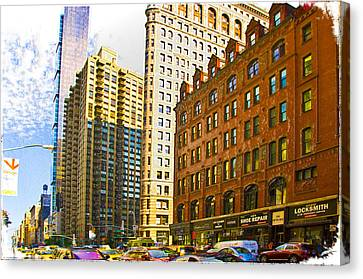 Color In The City Canvas Print
