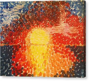 Color In The Sky Canvas Print by Eloisa Bevilacqua
