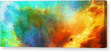 Color Infinity - Abstract Art By Sharon Cummings Canvas Print