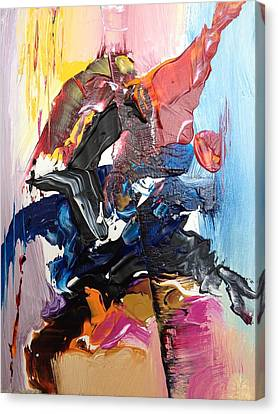Color Jumble Canvas Print by Angelo Terracciano