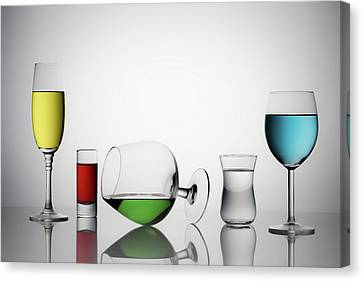 Champagne Canvas Print - Color Liqued by Saleh Swid