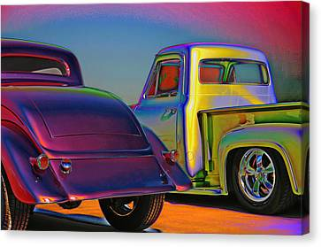 Canvas Print featuring the photograph Color Me A Hot Rod by Christopher McKenzie