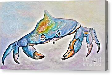 Color Me Blue . . . And Speckled Too Canvas Print by Eloise Schneider
