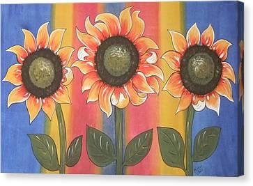 Color Me Sunny Canvas Print by Cindy Micklos