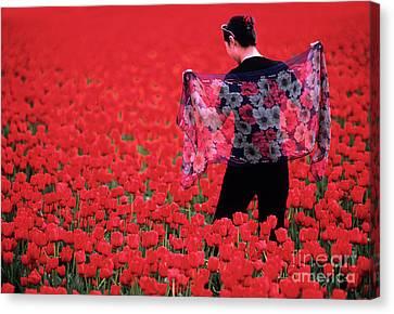 Color Me Tulip Canvas Print by Bob Christopher