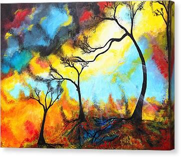 Color Mix Canvas Print by Nirdesha Munasinghe