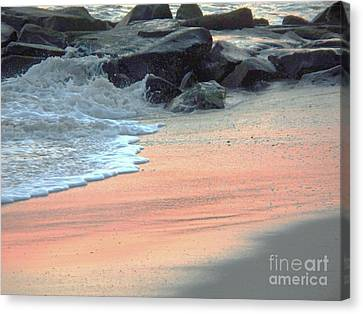 Seaside Heights Canvas Print - Color Of Sand Cape May Nj by Eric  Schiabor