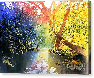 Color Of Trees Canvas Print