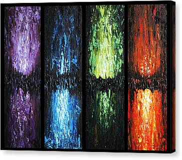 Color Panels 1 Canvas Print by Patricia Lintner